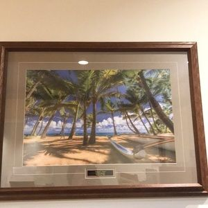 'Mama's View' Wood  Framed Wall Picture.32x24